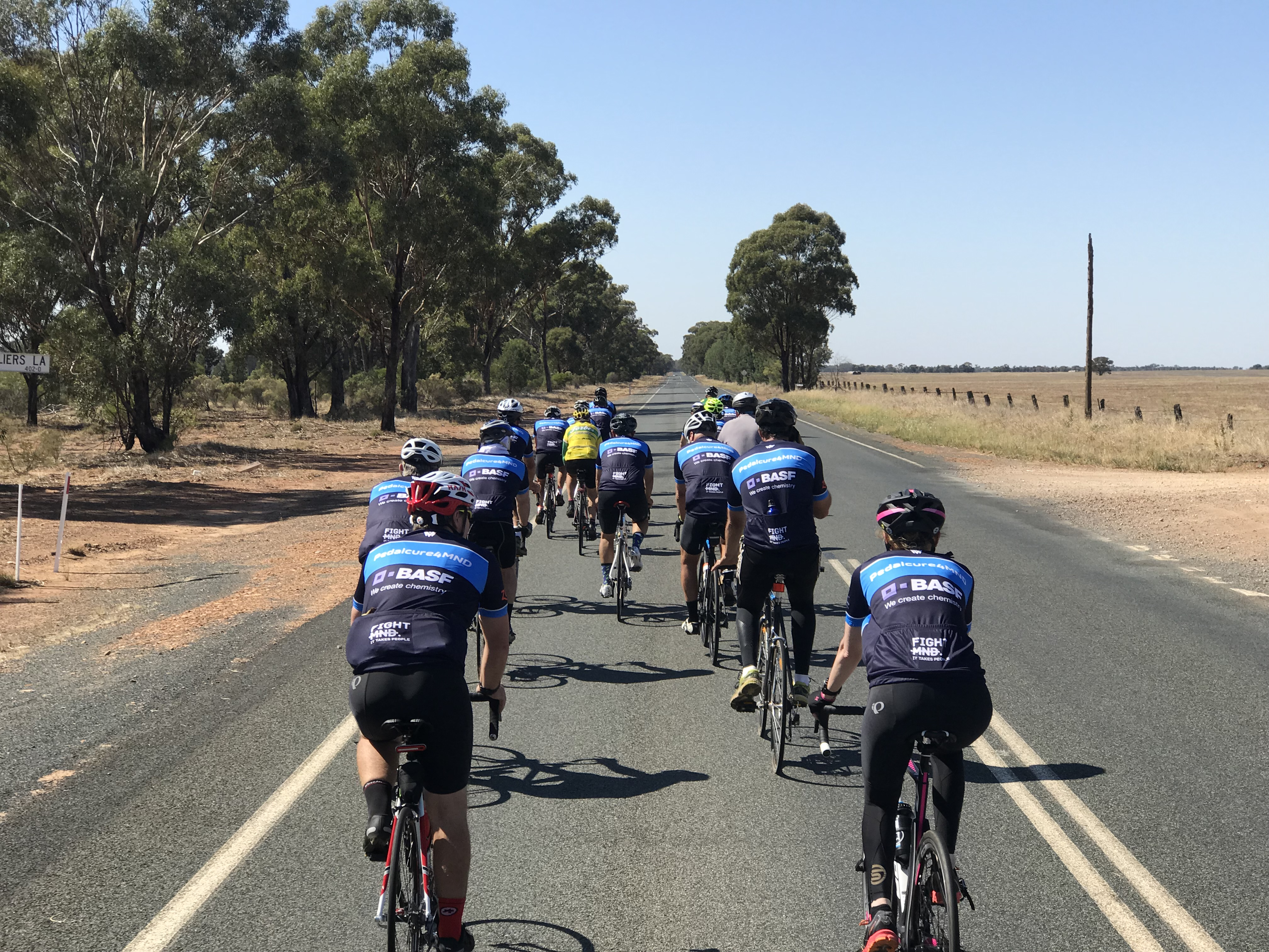 Day one of Pedalcure 4 MND from Ungarie to Ariah Park
