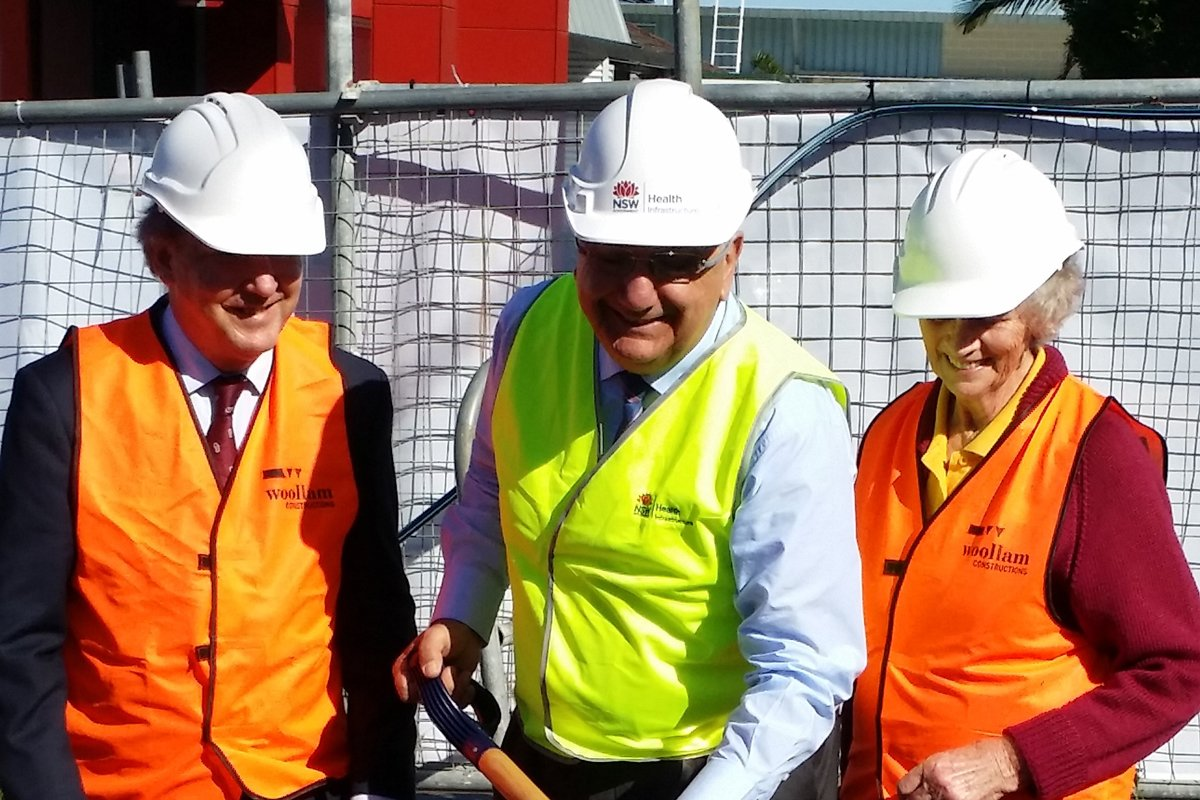 First sod turned for Lismore Base Hospital Car Park