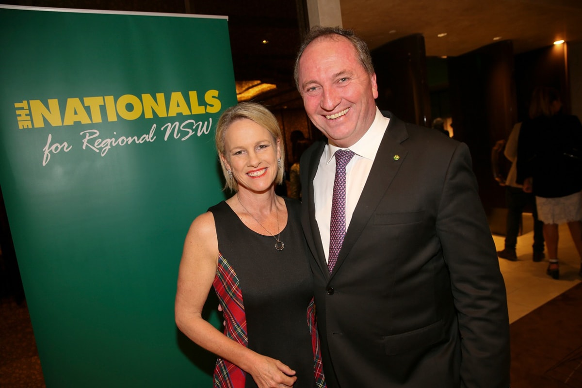 Barnaby and Fiona celebrate the big ten in style