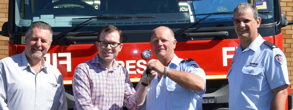 New rescue tanker for Uralla Fire & Rescue Station