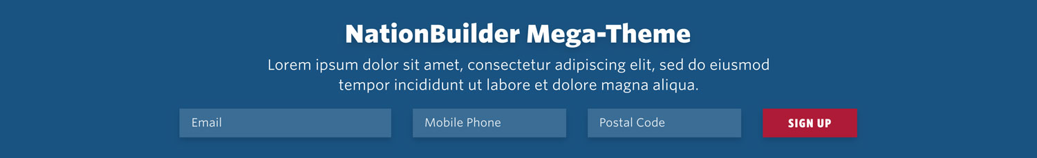 NationBuilder Content Block Module: Signup Bar