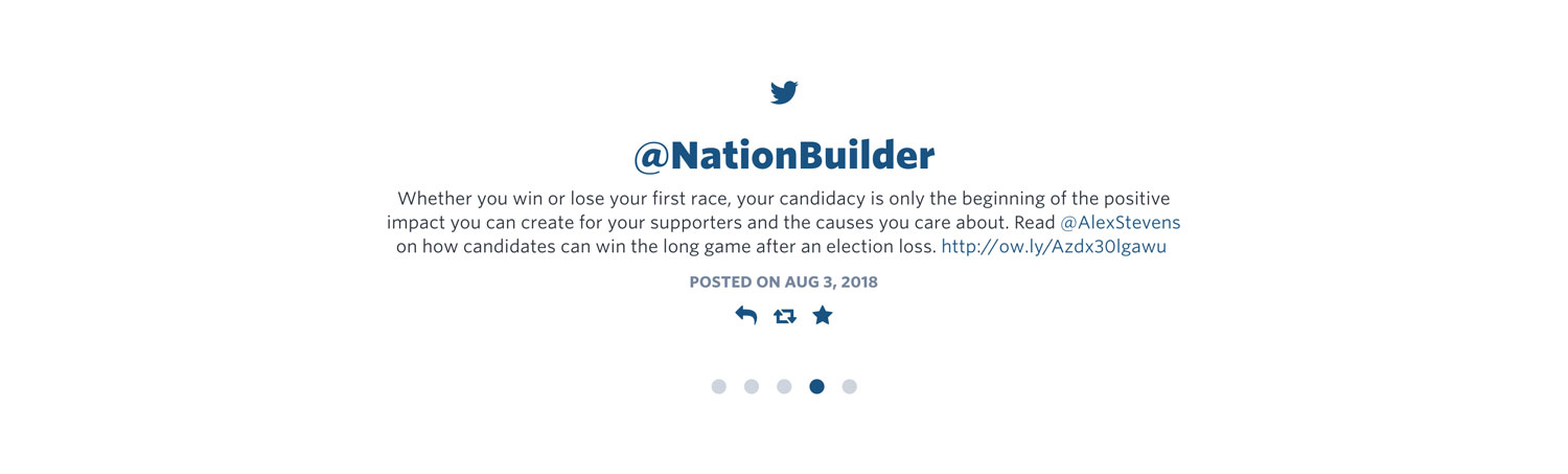 NationBuilder Content Block Module: Twitter Slider