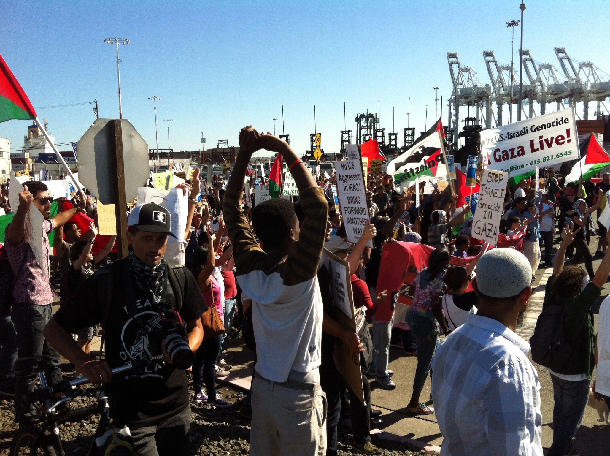Pro-Palestinian Protesters Thwart Israeli Cargo Ship Again