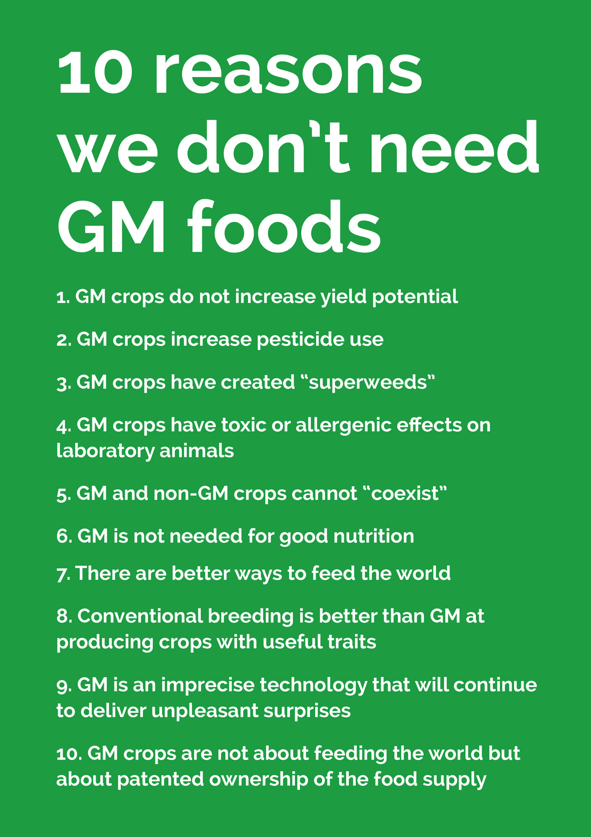 disadvantages of gm food Nowadays a problem of genetically modified food is widespread all over the world gm foods are genetically modified using biotechnology more and more gm.