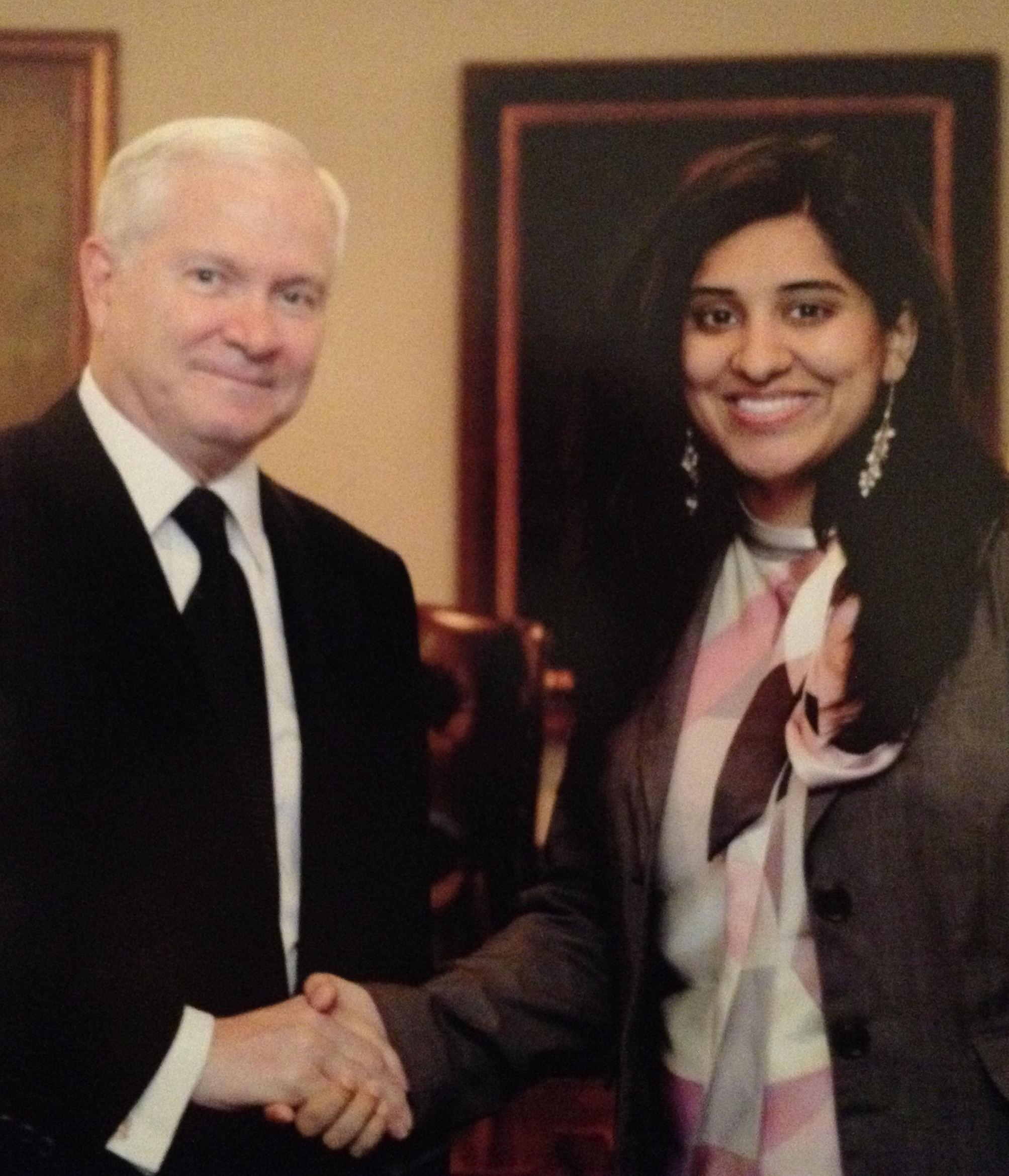 Naveen Malik with SECDEF Robert Gates