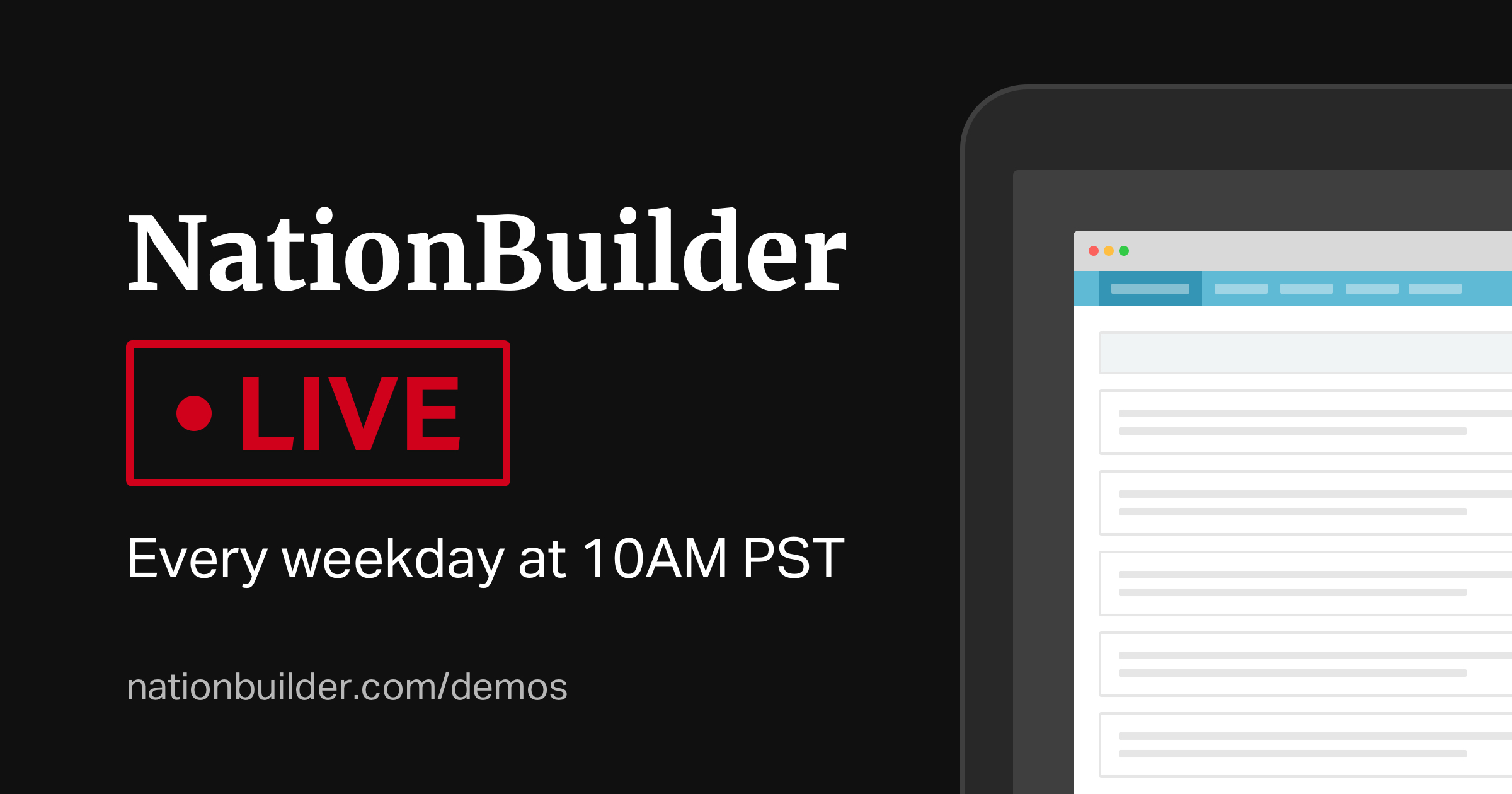 NationBuilder Live! - Links to save