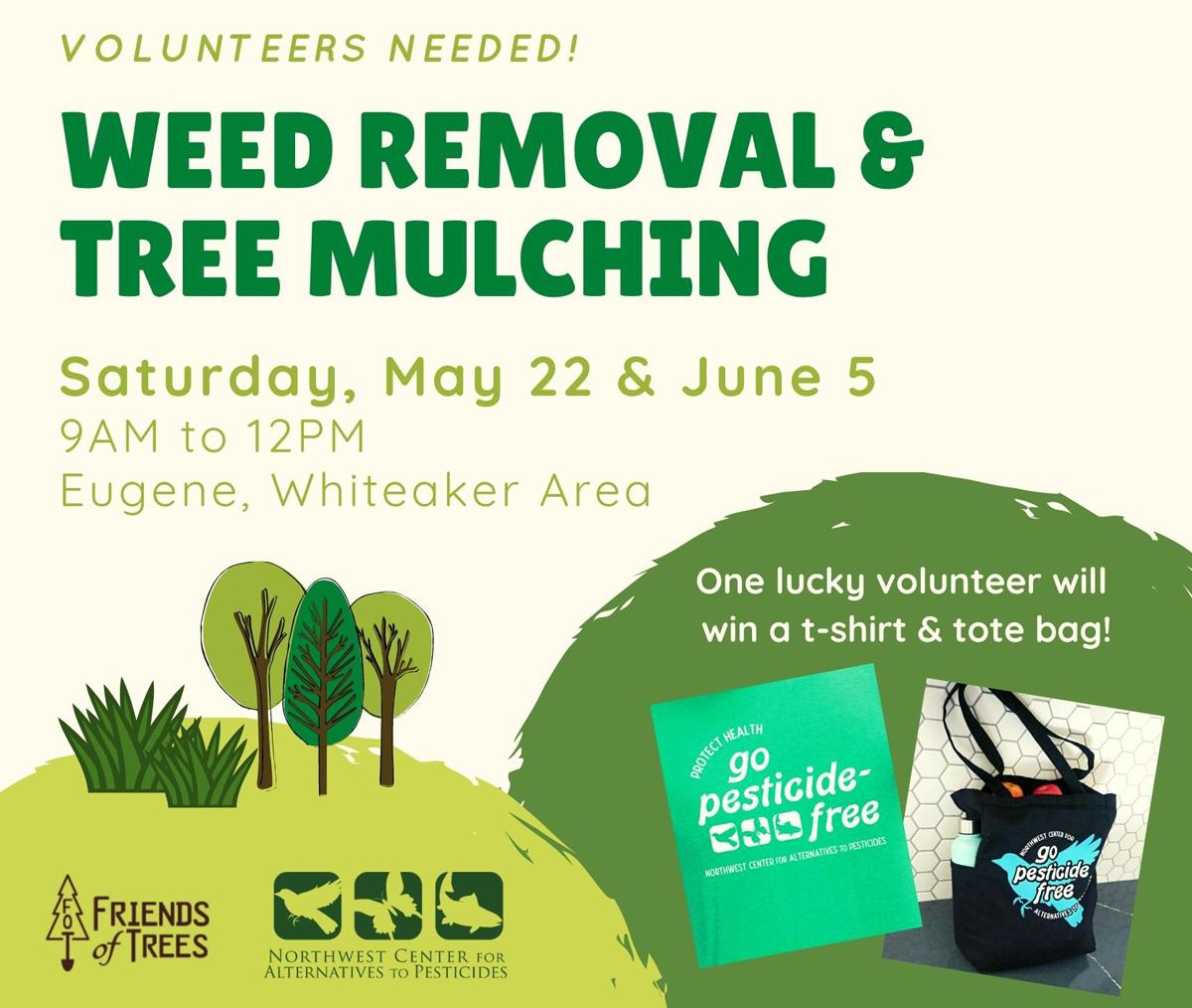Volunteers Needed! Weed Removal & Tree Mulching