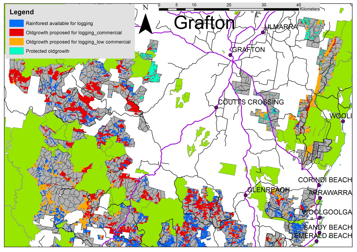 Grafton Oldgrowth Map