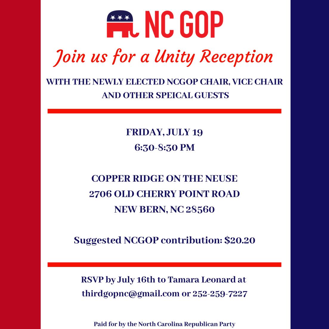 Republican Recap 7/12/19 - The Republican Party of North