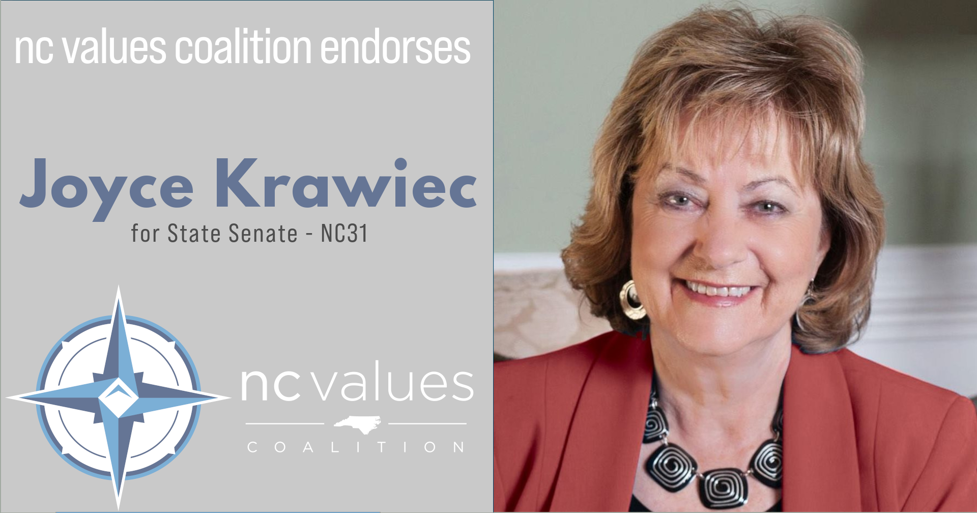 Joyce Krawiec NC State Senate NC31