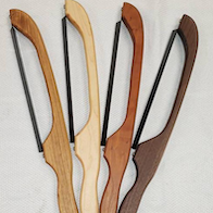 Bread knives made by Billamy's Woodworking