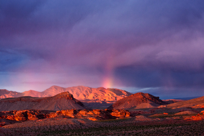photo: rainbow over Gold Butte (c) Kurt Kuznicki