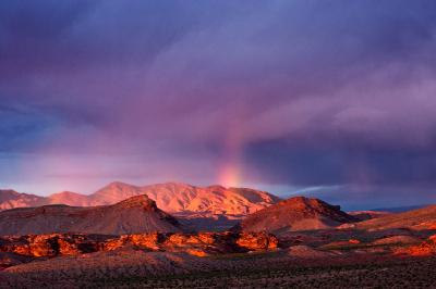 photo: rainbow over Gold Butte (c) Kurt Kuznicki