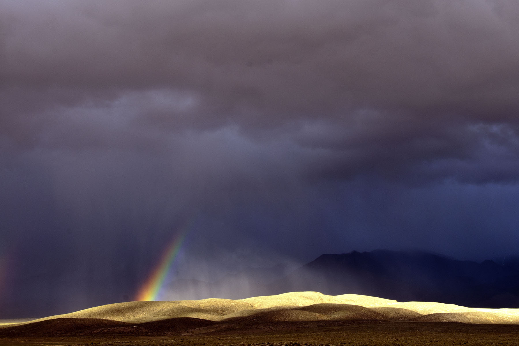 Rainbow over the Desatoya Mountains Wilderness Study Area.