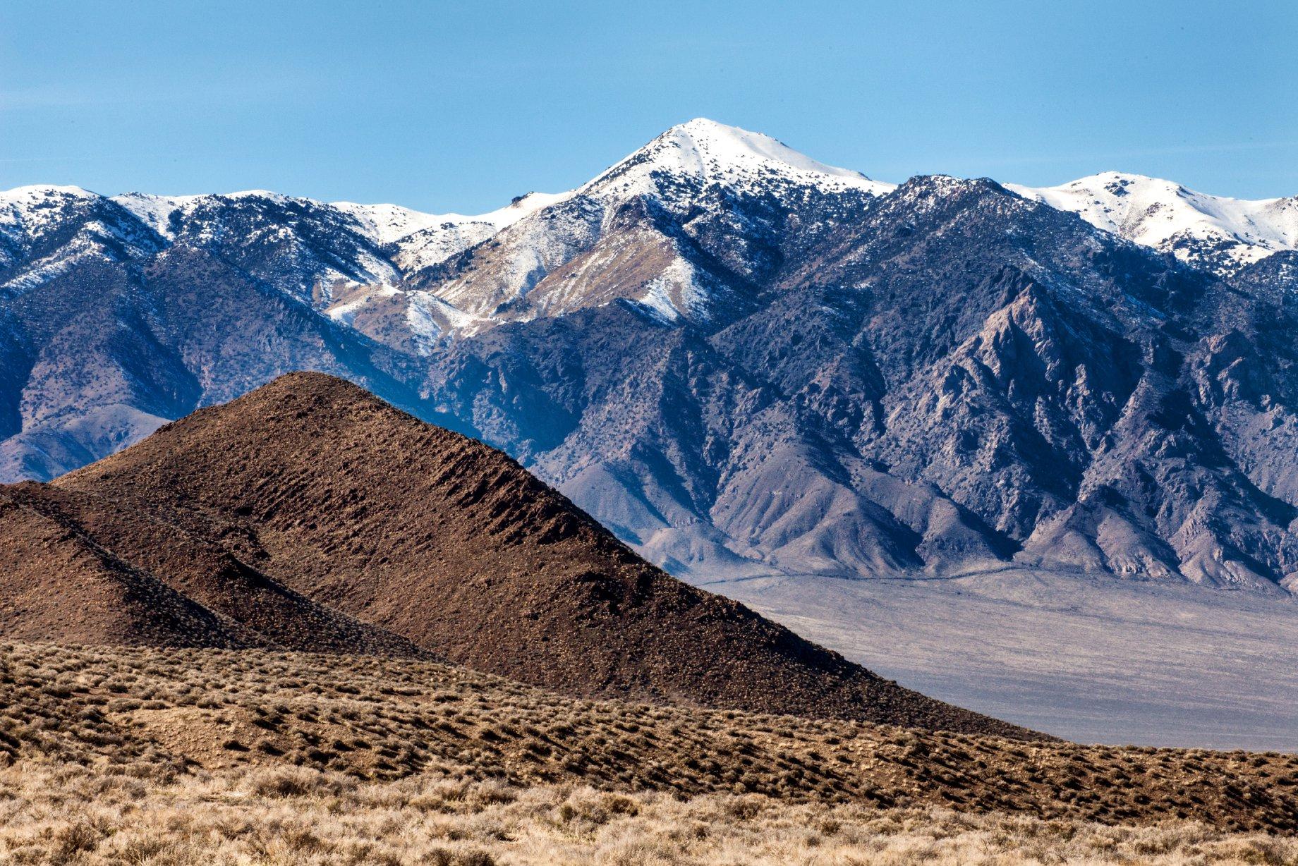 Job Peak Wilderness Study Area's snowy mountains.