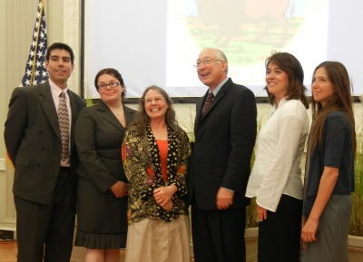 Friends' staffers: Jose Witt, Sheena Britschgi and Shaaron Netherton with Secretary Salazar (center) and agency partners Angelina Yost and Sendi Kalcic (c) unknown photographer