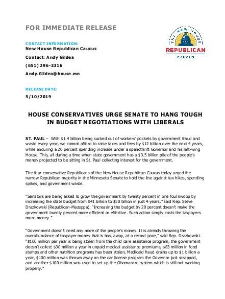 Budget Press Release