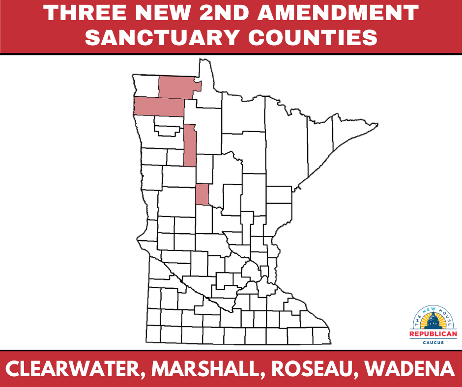 Map of 2A counties in Minnesota