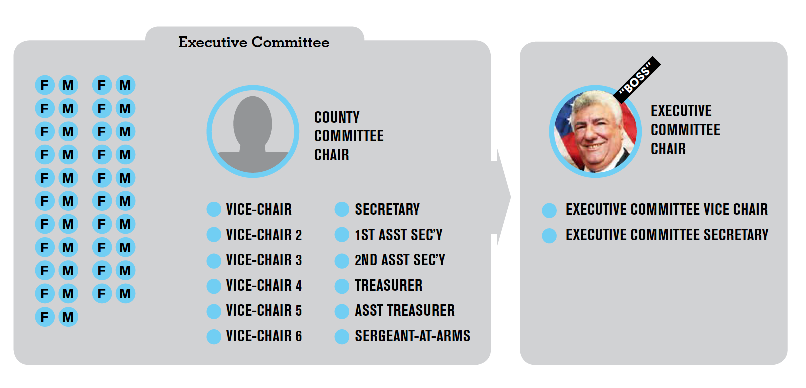 Diagram of Executive Committee Leadership (According to the bylaws)