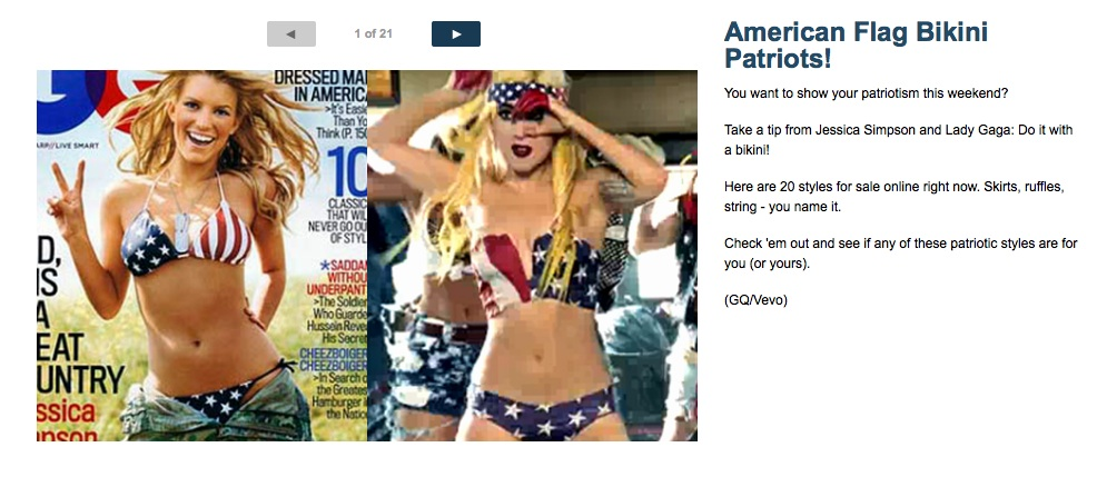 News Hounds Fox News Shows Its Patriotism With Flag Bikinis