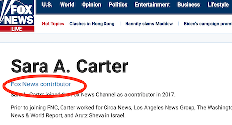 Sean Hannity Sara Carter Still Pretending She S Fox News Investigative Reporter Newshounds Her stories can be found at saraacarter.com. sean hannity sara carter still