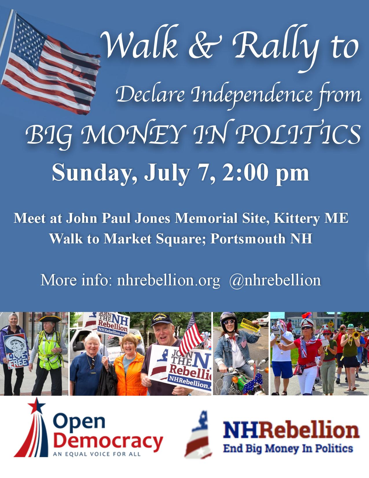 Walk for Independence from Big Money Politics