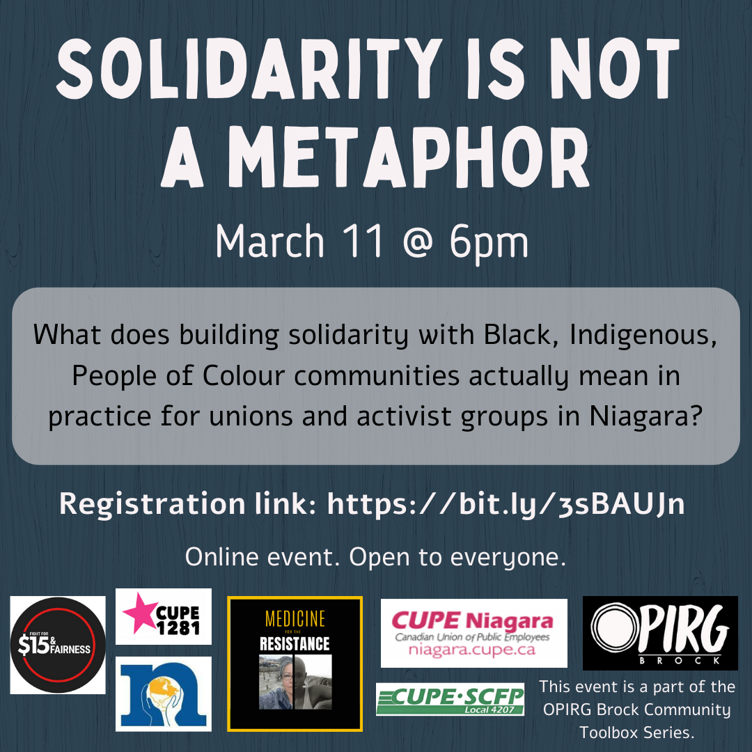 Poster for the March 11th Event