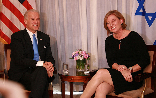 Tzipi Livni and Joe Biden. Photo: Tzipi Livni