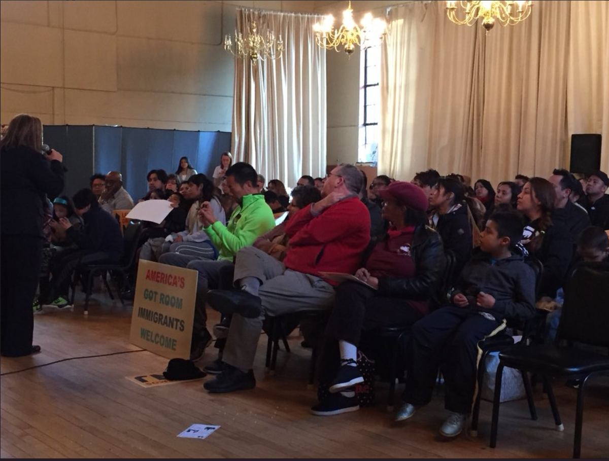Senator Nilsa Cruz Perez speaks at Let´s Drive NJ Camden Rally in support of expanding access to driver´s licenses in New Jersey.