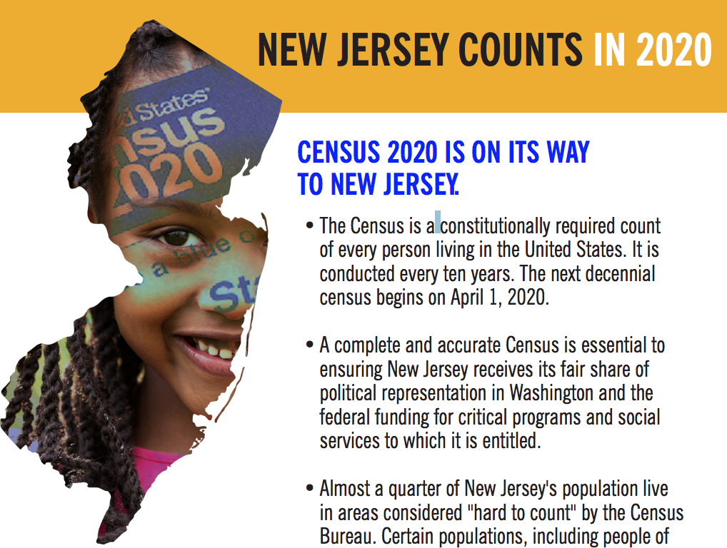 A Census undercount could mean less political power and funding for essential programs and services for New Jersey.