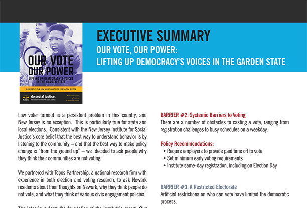 Executive Summary: Our Vote, Our Power
