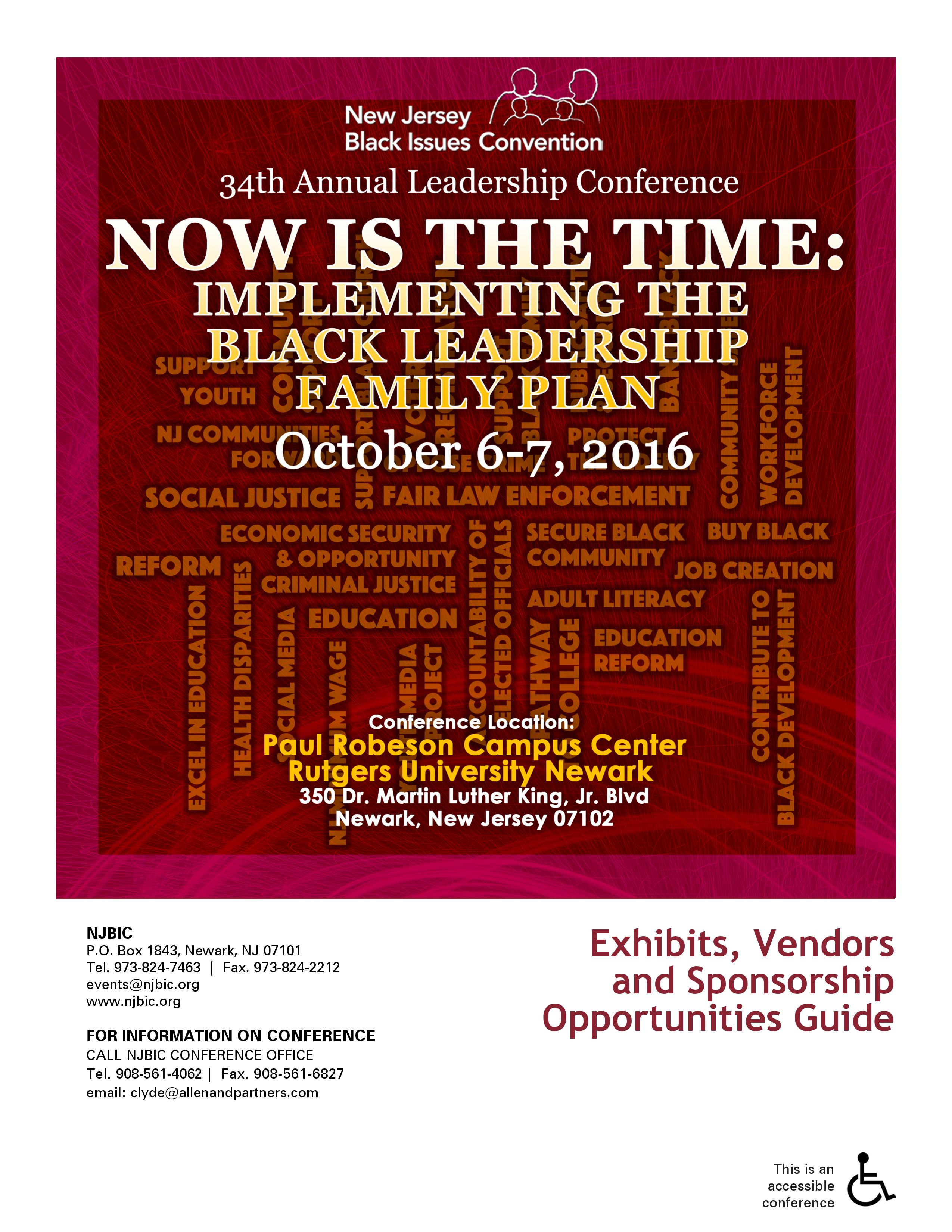 34th Annual Black Leadership Conference New Jersey Institute For Social Justice