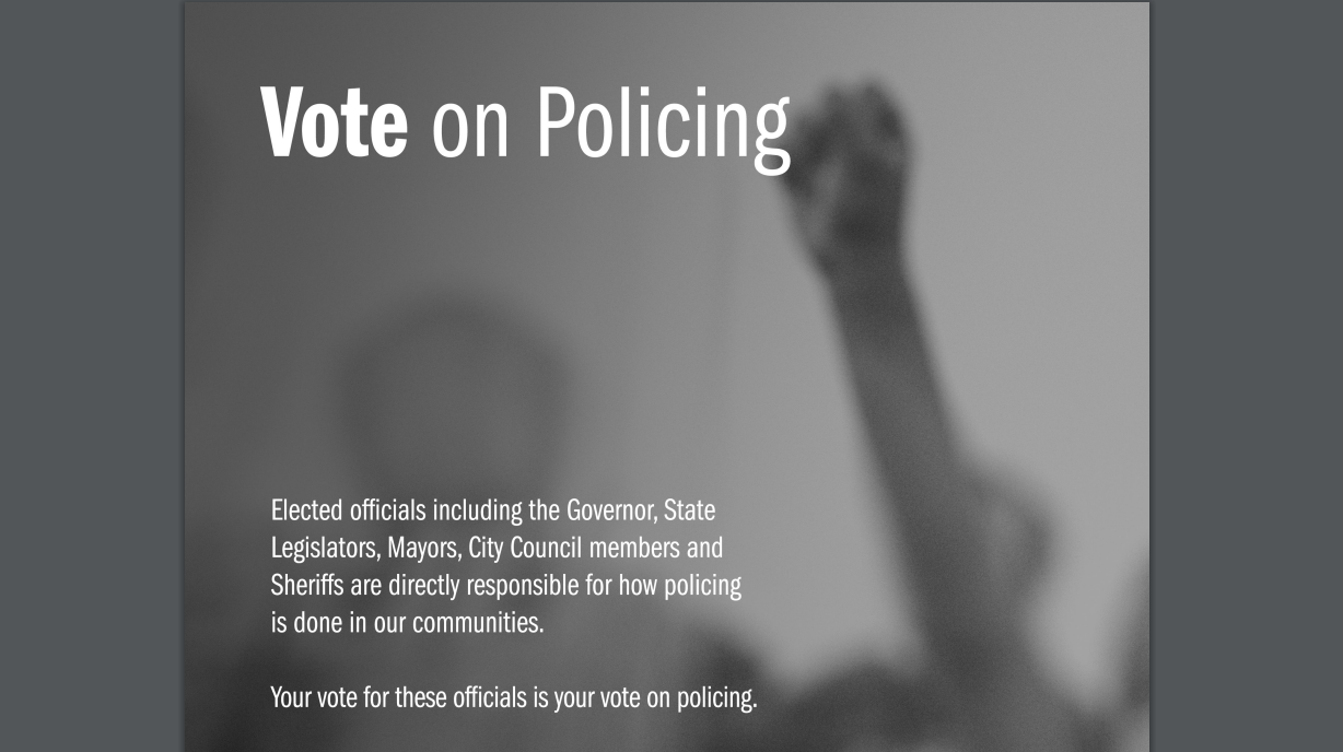 Click here to learn more about how your vote affects policing!