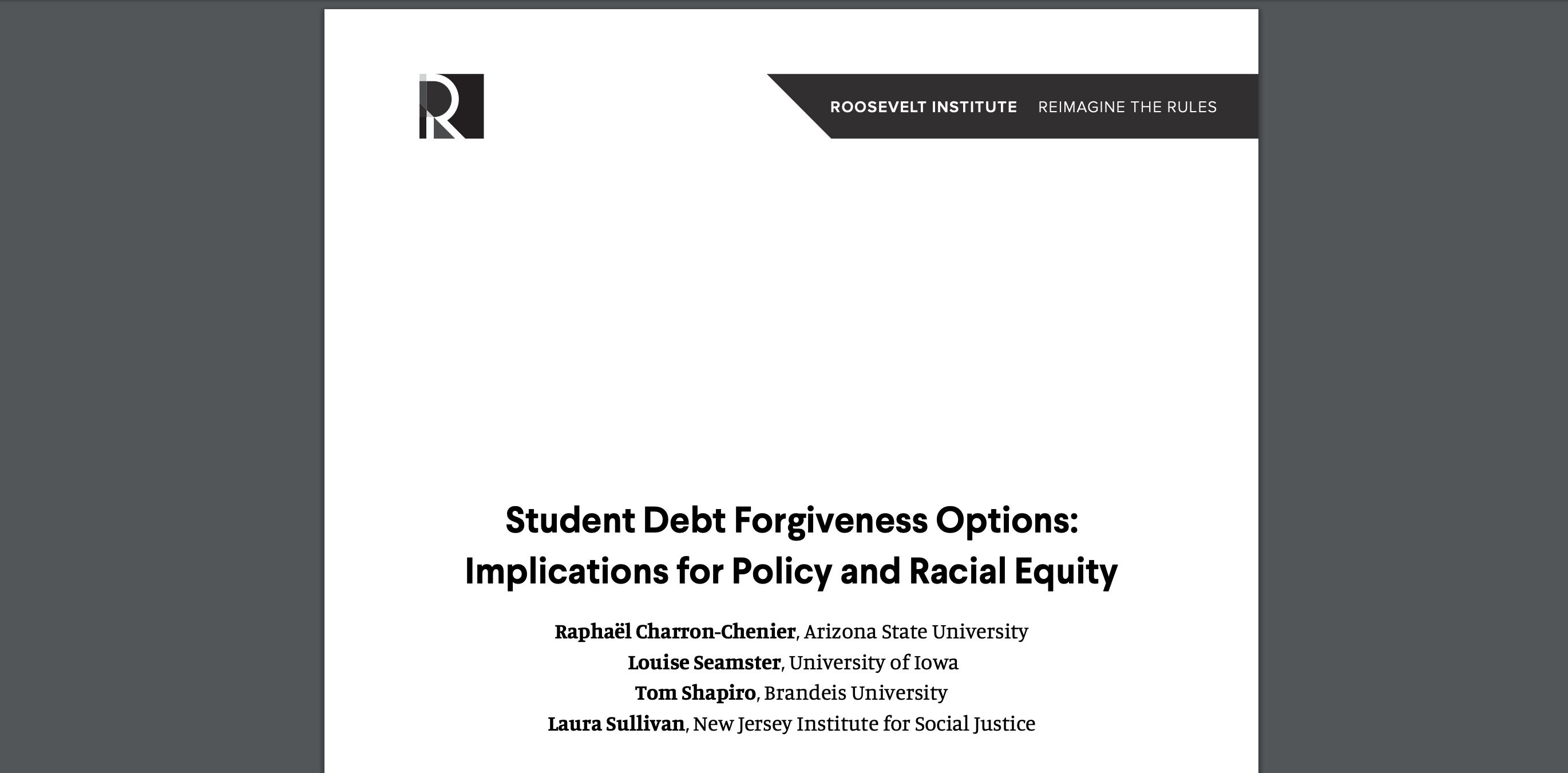 Read this new analysis investigating the impacts of student loan forgiveness solutions to our student debt crisis.