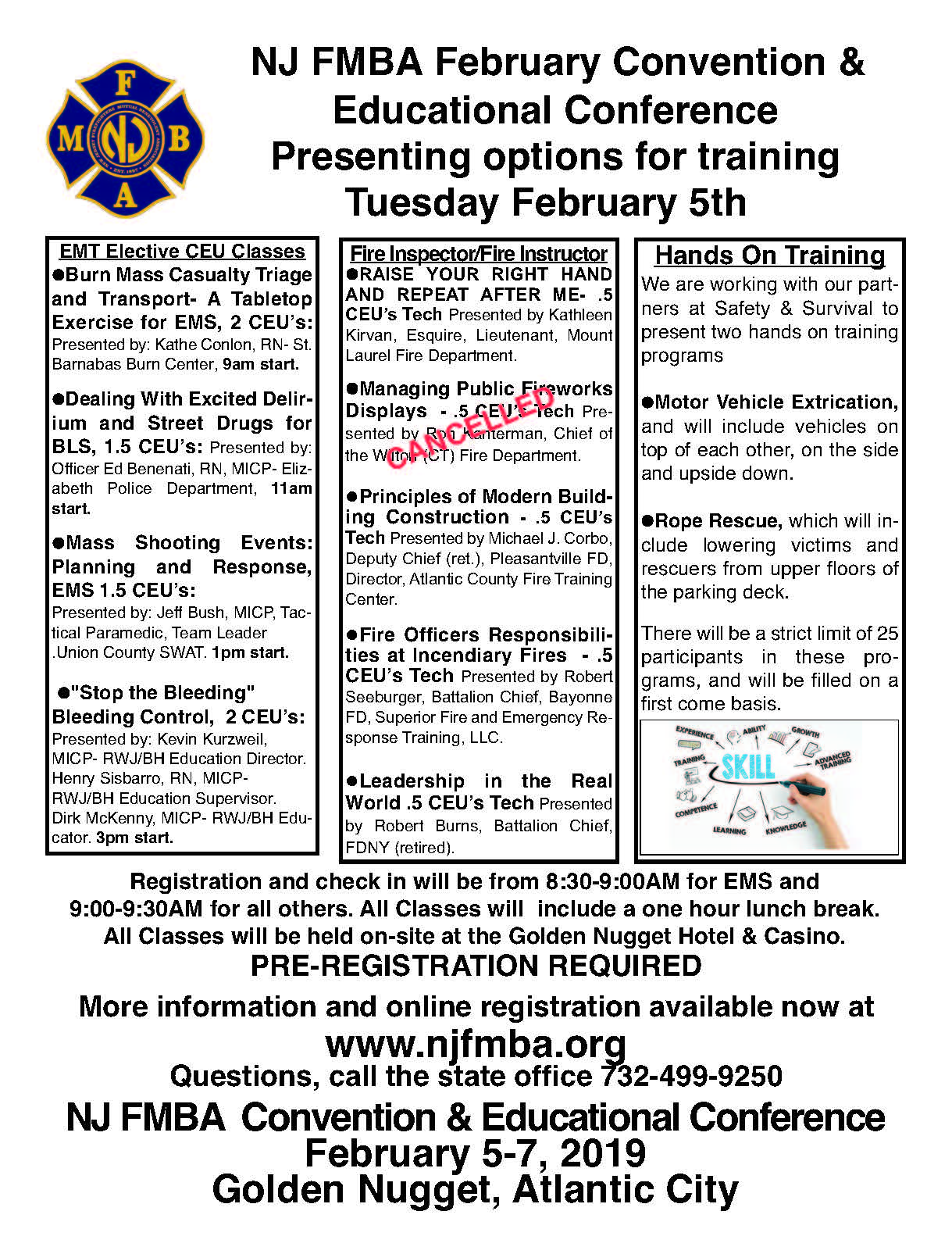 NJ FMBA February Mid-Year Convention and Educational