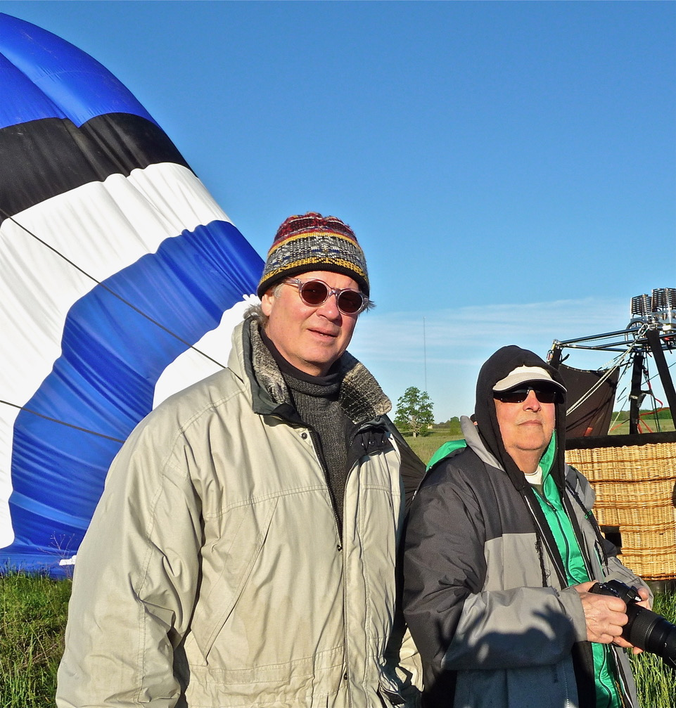 Bob Russell and Grant Parsons ballooning