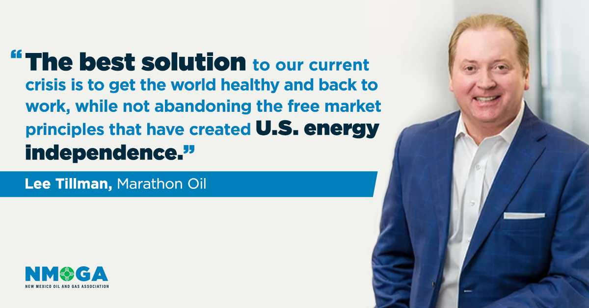 Marathon Oil CEO: Regulators should stand down and let free markets handle the oil price crash