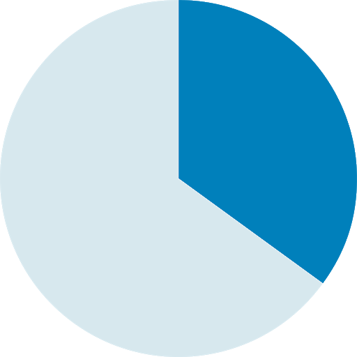 Pie Chart Filled to 33%