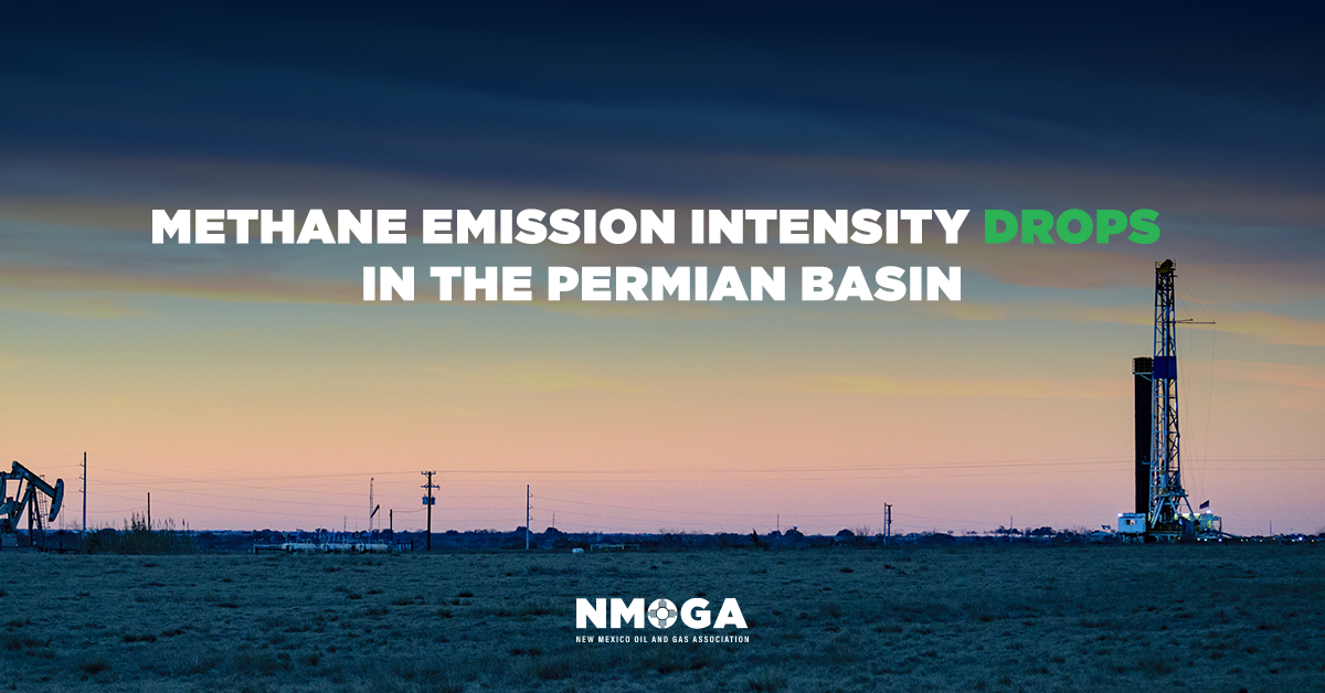 Study shows drop in methane emission intensity
