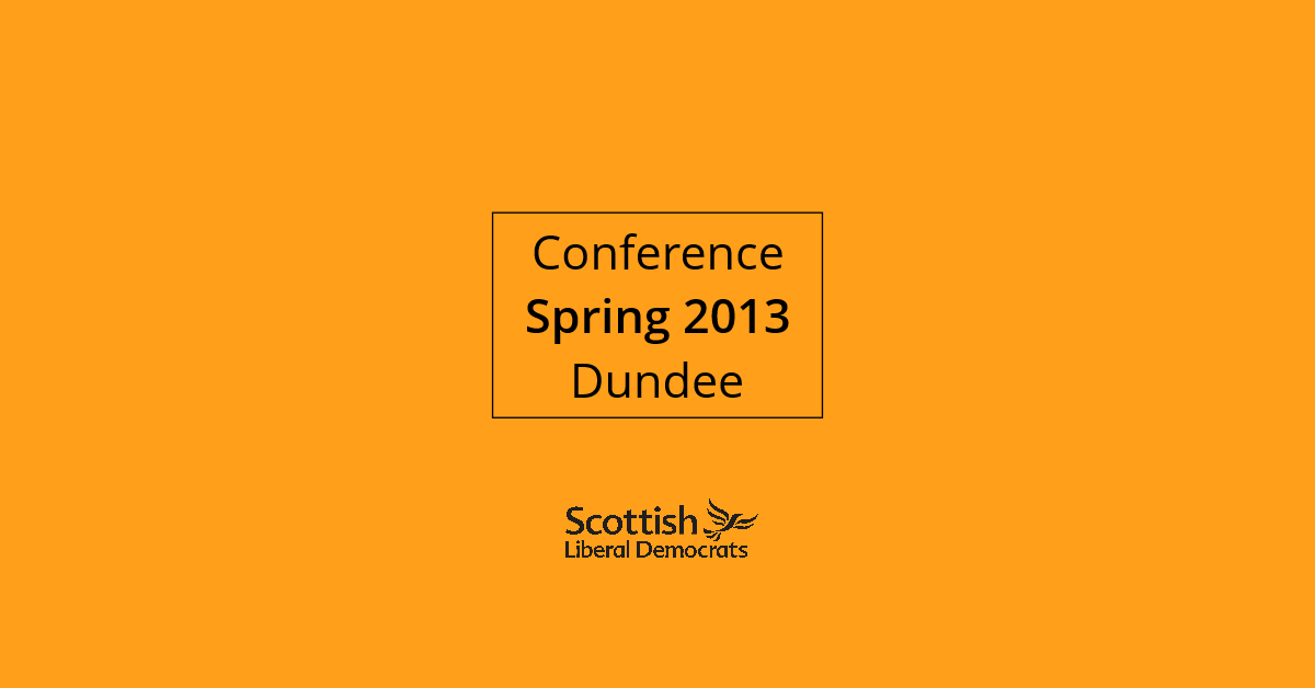 2013, Spring - Dundee