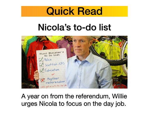 Quick Read - Nicola's to-do list