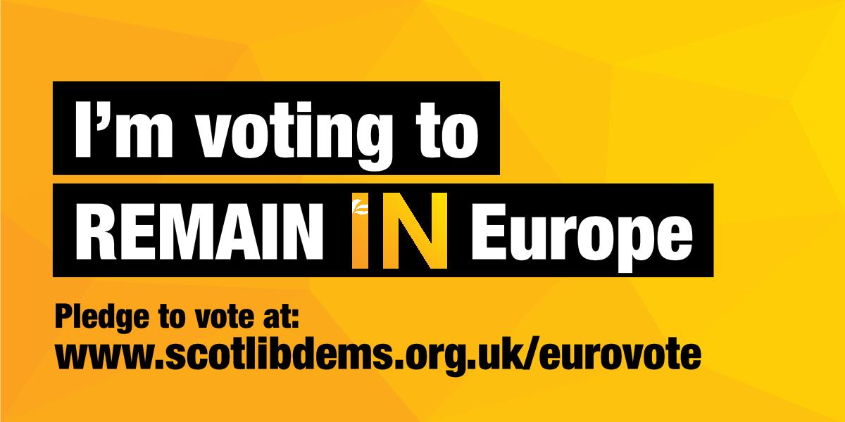 Pledge your vote to REMAIN in Europe