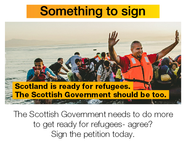 The Scottish Government needs to do more to get ready for refugees. Sign the petition.