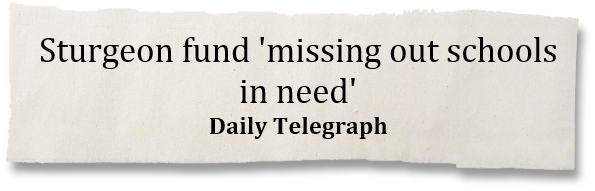Sturgeon fund 'missing out schools in need' - Daily Telegraph