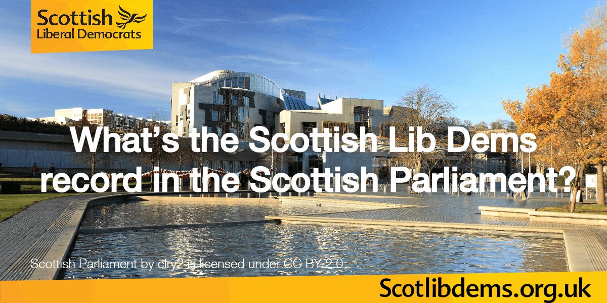 What is your record in the Scottish Parliament?