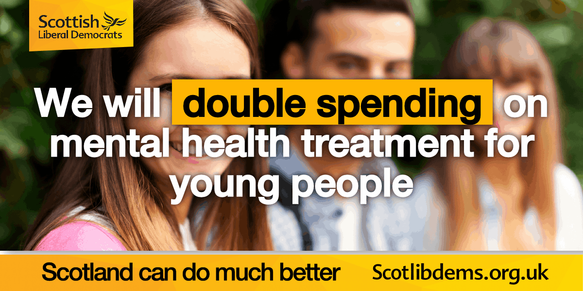 We'll double investment in mental health treatment for young people