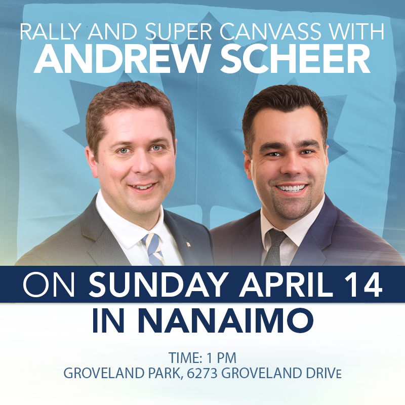 Andrew Scheer Rally in Nanaimo, April 14, 2019
