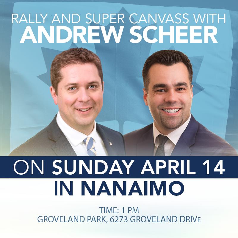 Andrew Scheer Nanaimo Rally