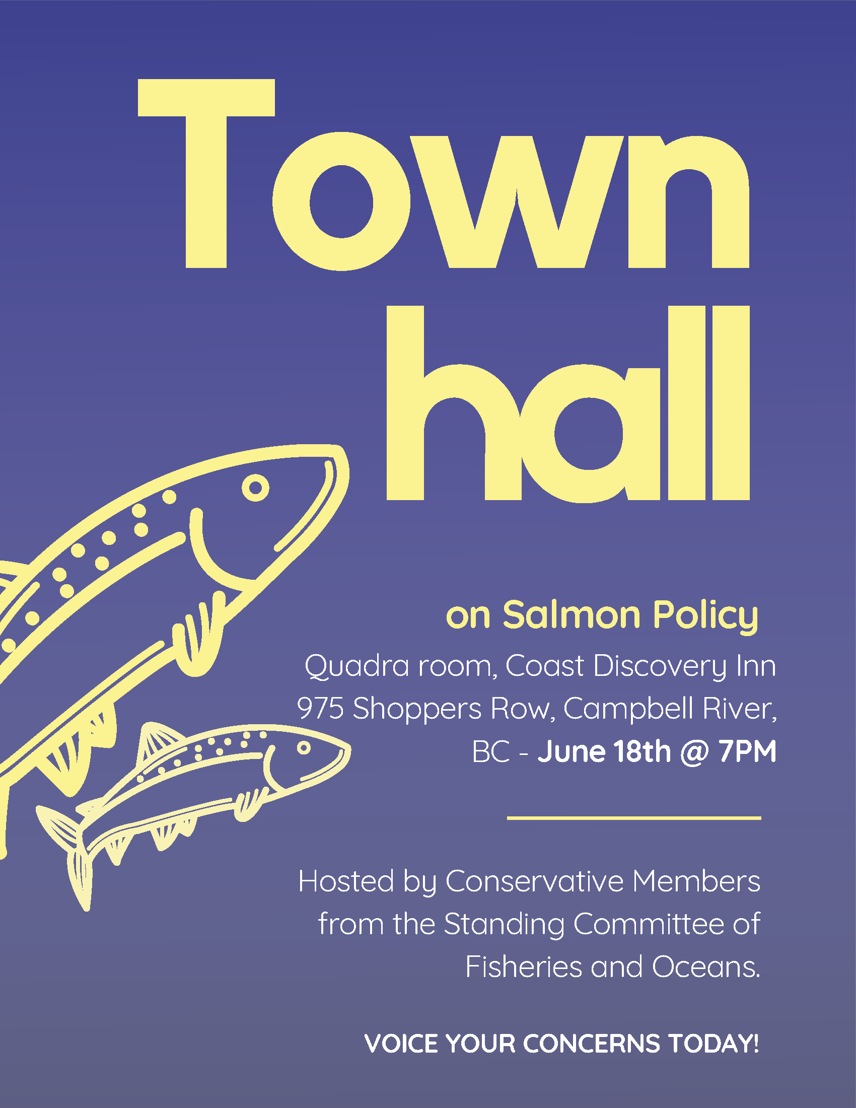 Salmon Policy Town Hall  Poster - Campbell River