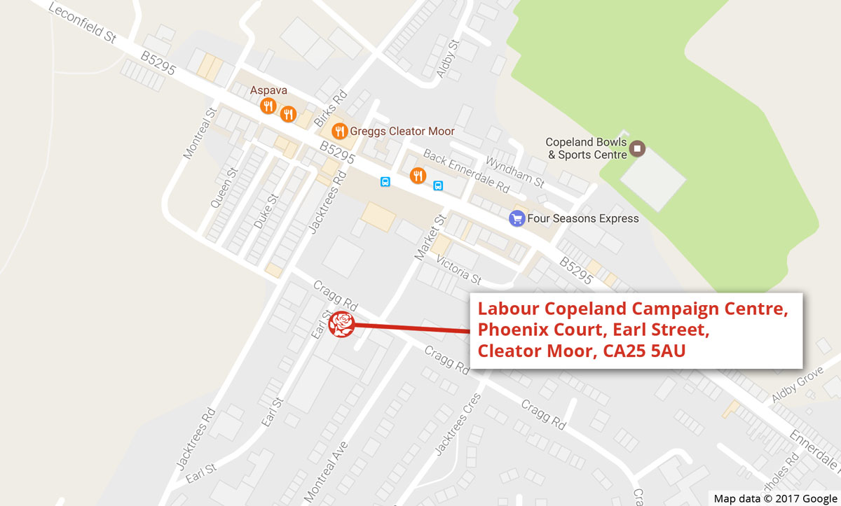 campaign centre map